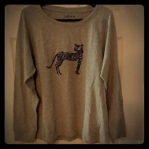 Loft Cheetah Grey Shirt/Sweatshirt. Brand New! 😃